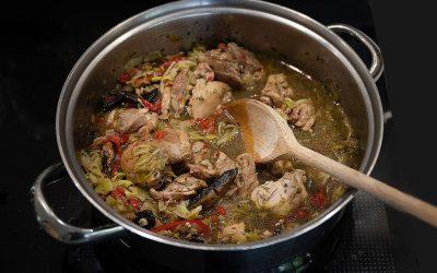 Chicken and tarragon stew